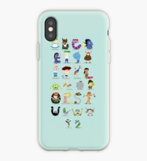 Animated characters abc iPhone Case