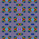 Newton Raphson Fractal Seamless Pattern X by shane22