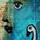 Face and Bird by ArtLacoque