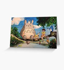 Studio Ghibli Watercolor Painting Greeting Card