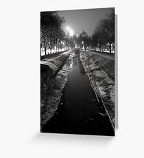 Wintery Canal Greeting Card