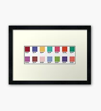 Pantone - Colors of the Year (2007-2019) - Set of 14 stickers Framed Print