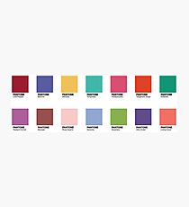 Pantone - Colors of the Year (2007-2019) - Set of 14 stickers Photographic Print