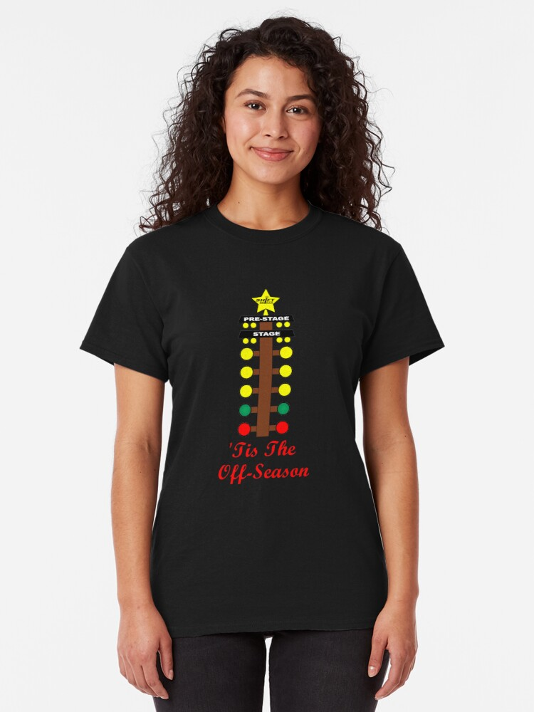 Alternate view of Christmas Tree- Drag Racing Inspired Classic T-Shirt