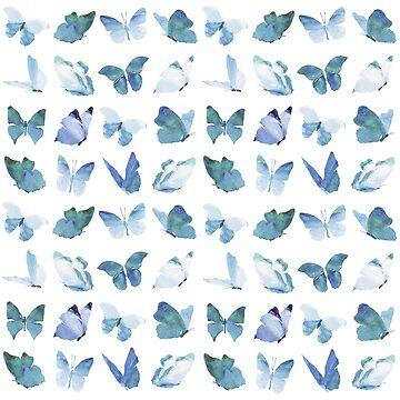 Watercolor Butterflies by rodrigomff23