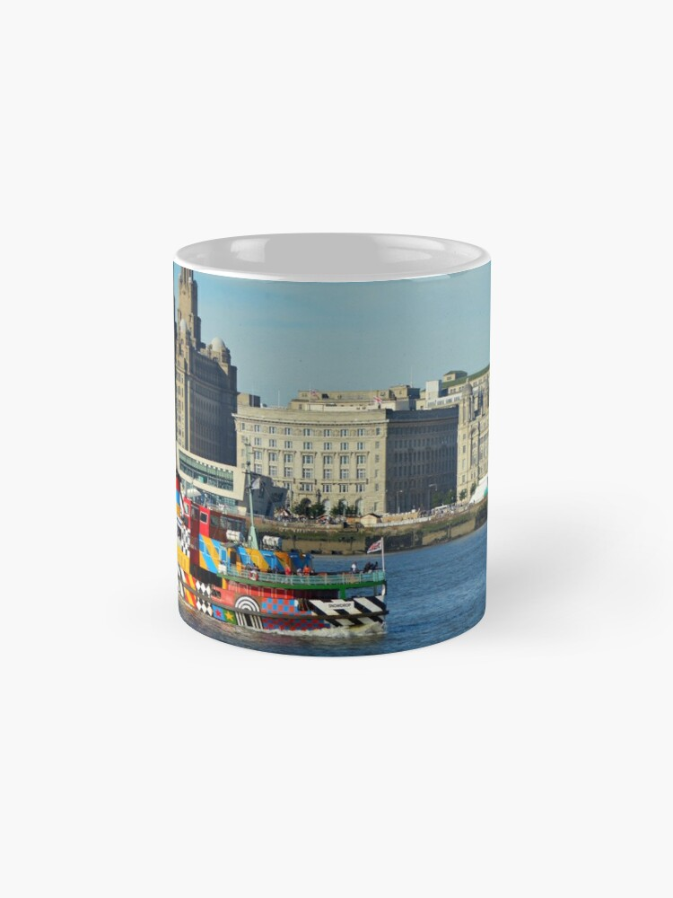 Alternate view of Liverpool Waterfront and Mersey Ferry Mug
