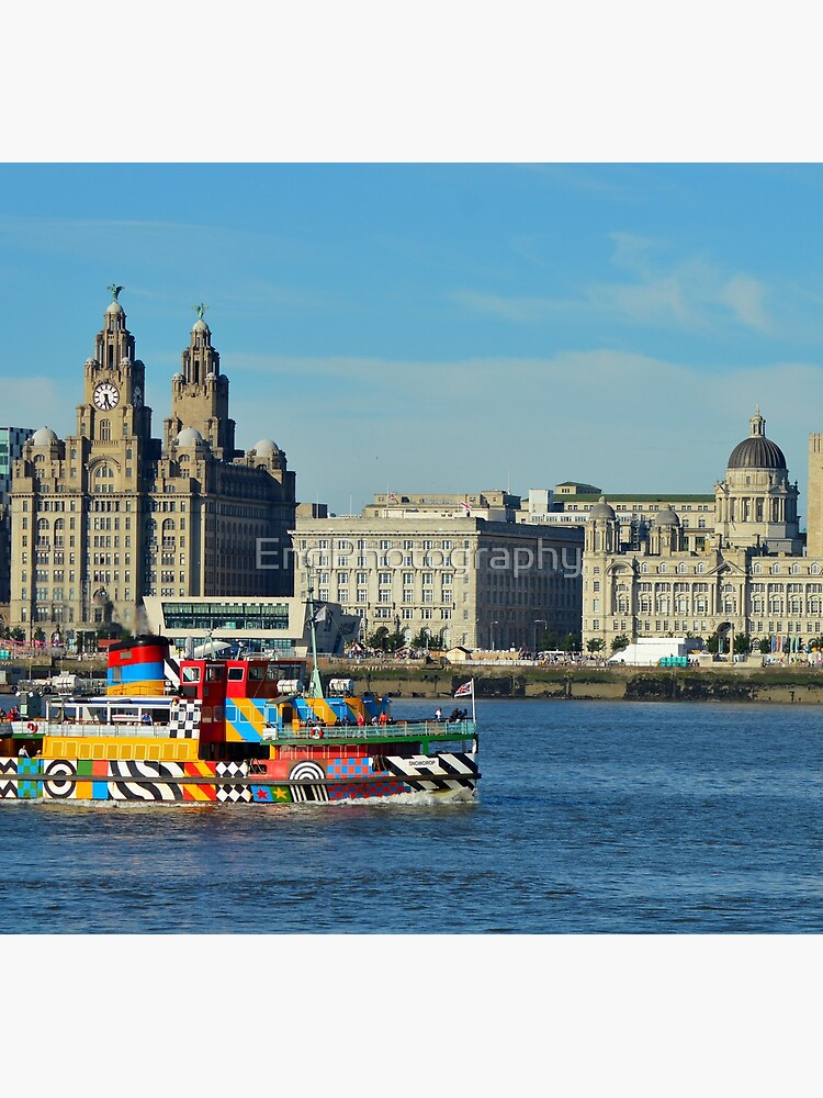Liverpool Waterfront and Mersey Ferry by EngPhotography