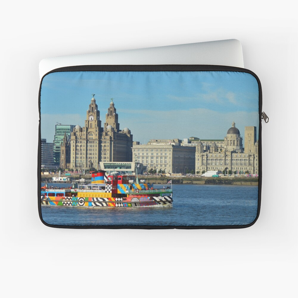 Liverpool Waterfront and Mersey Ferry Laptop Sleeve