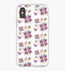 Late Summer Medley on Grey iPhone Case