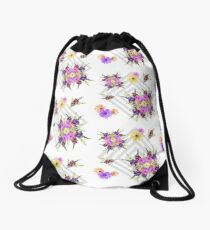 Late Summer Medley on Grey Drawstring Bag