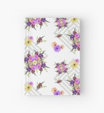 Late Summer Medley on Grey Hardcover Journal