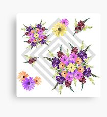 Late Summer Medley on Grey Canvas Print