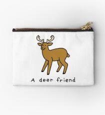 A Deer Friend Zipper Pouch
