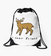 A Deer Friend Drawstring Bag