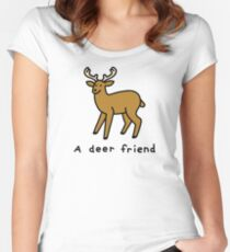 A Deer Friend Fitted Scoop T-Shirt