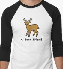 A Deer Friend Baseball ¾ Sleeve T-Shirt