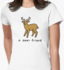A Deer Friend Fitted T-Shirt