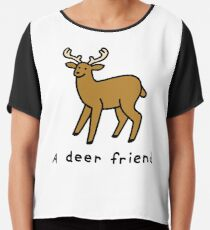 A Deer Friend Chiffon Top