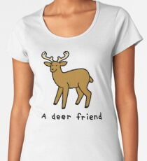 A Deer Friend Premium Scoop T-Shirt