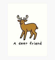 A Deer Friend Art Print