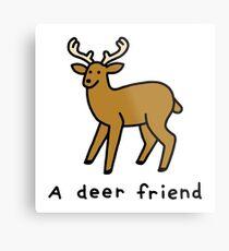 A Deer Friend Metal Print