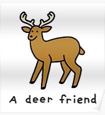 A Deer Friend Poster