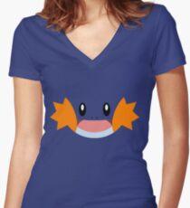 Pokemon - Mudkip / Mizugorou Women's Fitted V-Neck T-Shirt