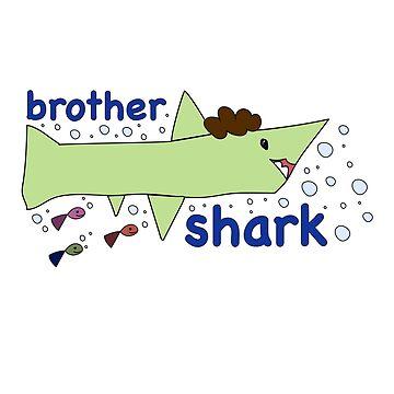kidostyle: Brother Shark premium quality t-shirt by kidostylebrand