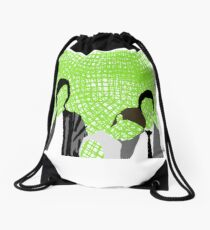 The Wallflowers, Green Drawstring Bag