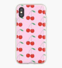 Wildblumen Kirschen rosa iPhone-Hülle & Cover