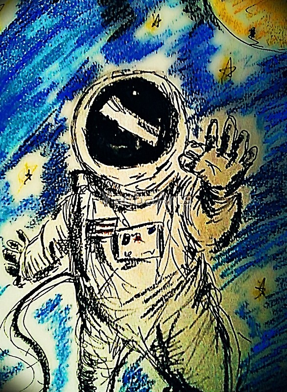 astronaut reaching for the stars - 586×800