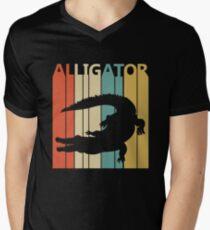 Vintage Retro Alligator Men's V-Neck T-Shirt