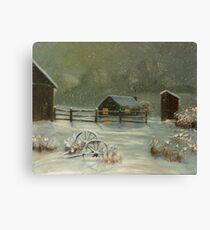 The homestead-acrylics on canvas Canvas Print
