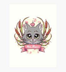 Maxi Kitty Art Print
