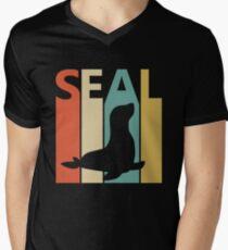 Vintage Retro Seal Men's V-Neck T-Shirt