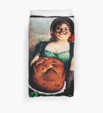 Vintage Food Ad Panettoni Milano Italy Duvet Cover