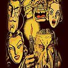 Creepy Monster Dark Vintage Comic Horror Art by thespottydogg