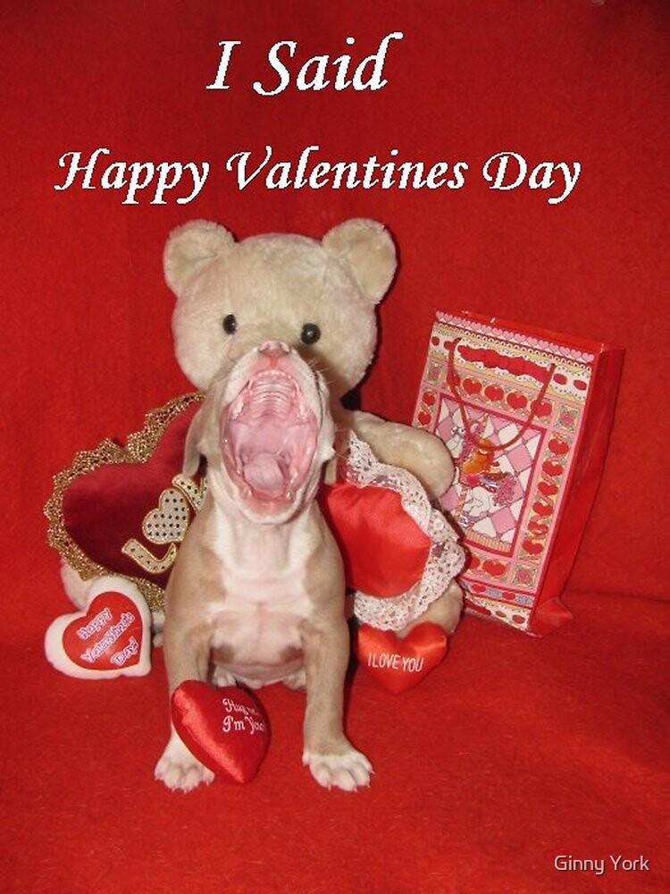 "I Said ""Happy Valentine's Day!!!"" by Ginny York"