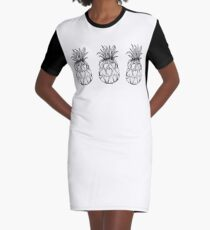 Just add Colour - Love Pineapple! Graphic T-Shirt Dress