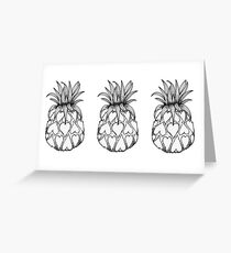 Just add Colour - Love Pineapple! Greeting Card