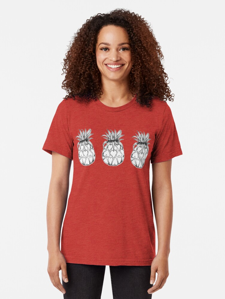 Alternate view of Just add Colour - Love Pineapple! Tri-blend T-Shirt