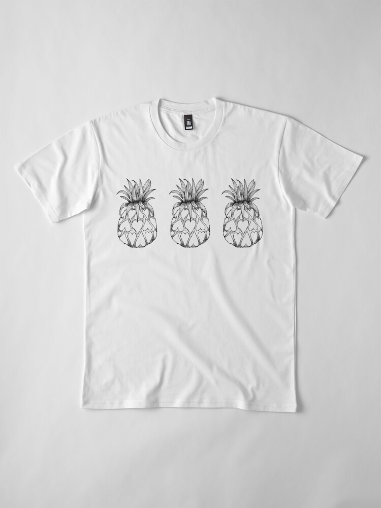 Alternate view of Just add Colour - Love Pineapple! Premium T-Shirt