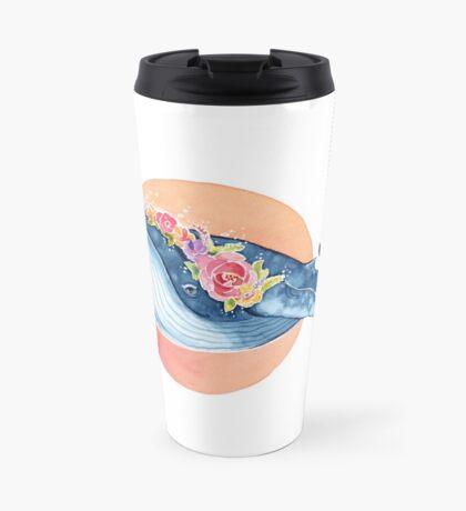 Flora Blue Travel Mug