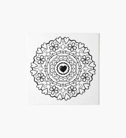 Just Add Colour - Mandala Love Art Board Print