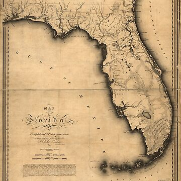 Map of Florida (1823) by allhistory