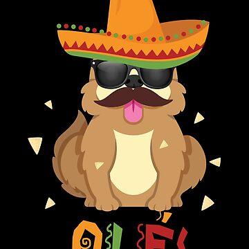 Ole Puppy Dog Cinco De Mayo by Poxiel