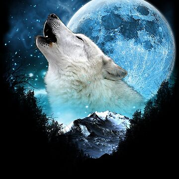 White Wolf Call Of The Wild Full Moon Escape by ratherkool
