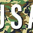 USA Camo Sticker  by Workingdogs