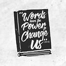 «Las palabras tienen poder - negro» de The Bookish And Co