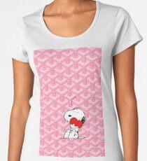 goyard,pink,love,snoopy Women's Premium T-Shirt